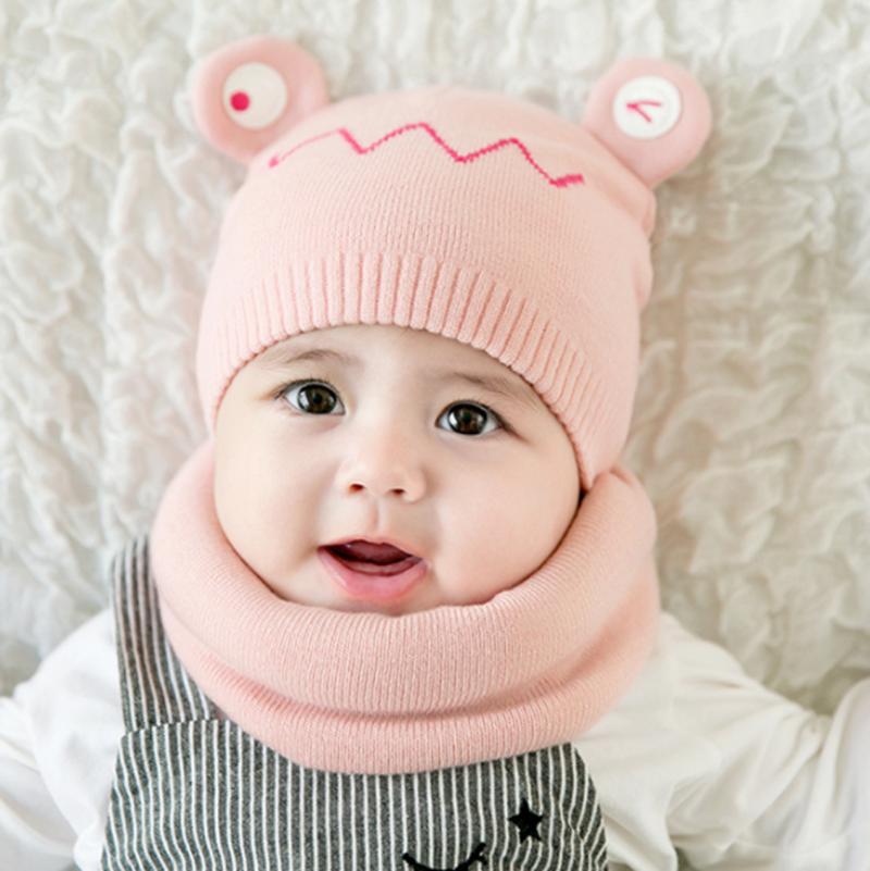 儿童帽子秋冬季薄款婴幼儿毛线帽0-12个月韩版宝宝帽男女孩公主帽