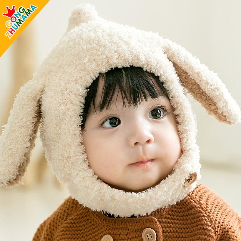 婴儿帽子秋冬季韩版宝宝保暖护耳帽3-6-12个月儿童帽男女孩公主帽