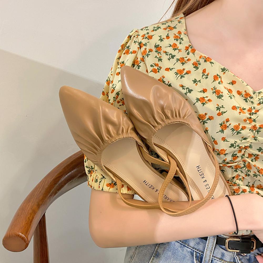 网红凉鞋女仙女风2020夏季新款时尚包头粗跟百搭尖头ins潮罗马鞋图片