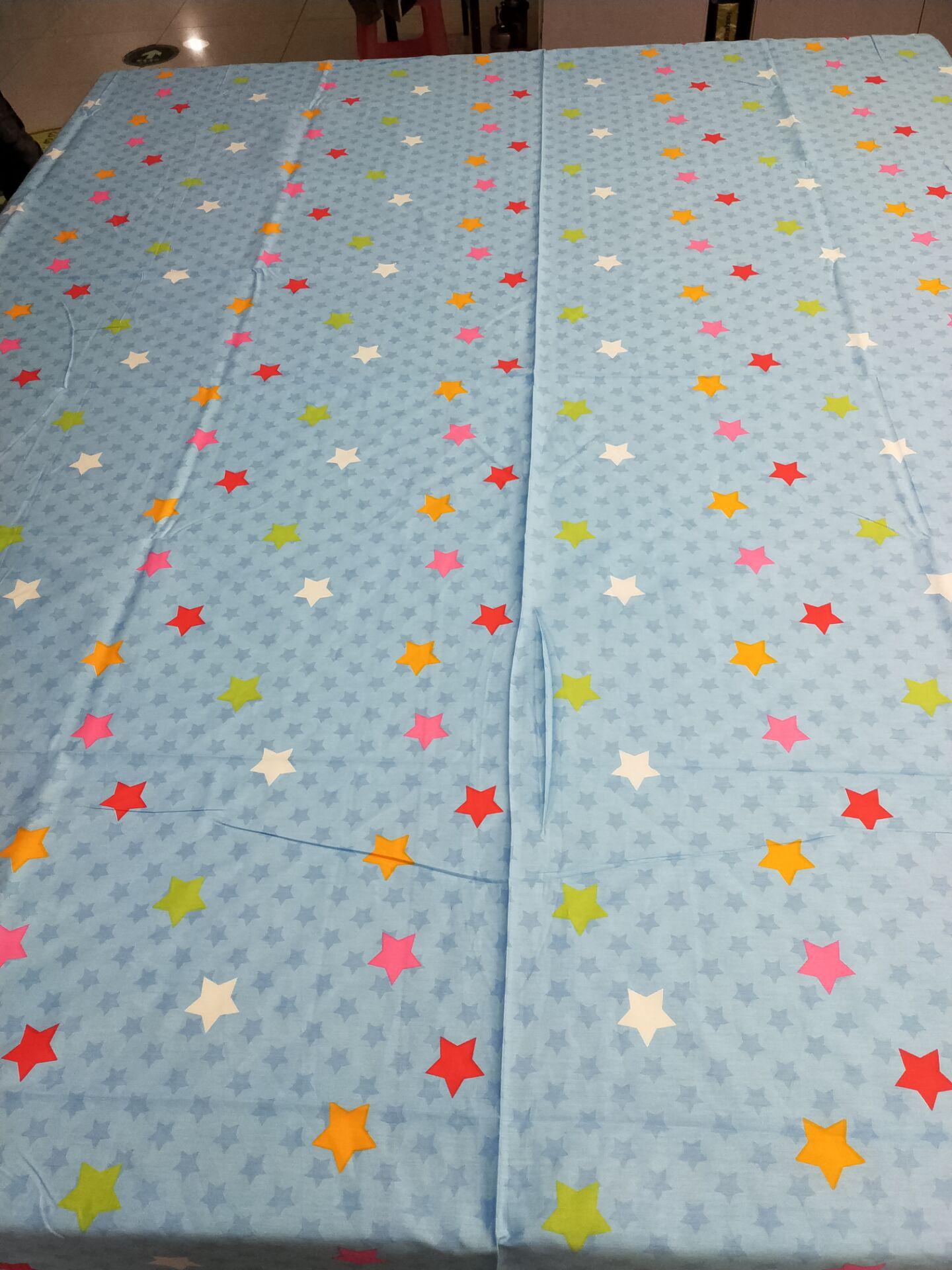 纯棉床单四件套床上用品卡通棉麻棉布