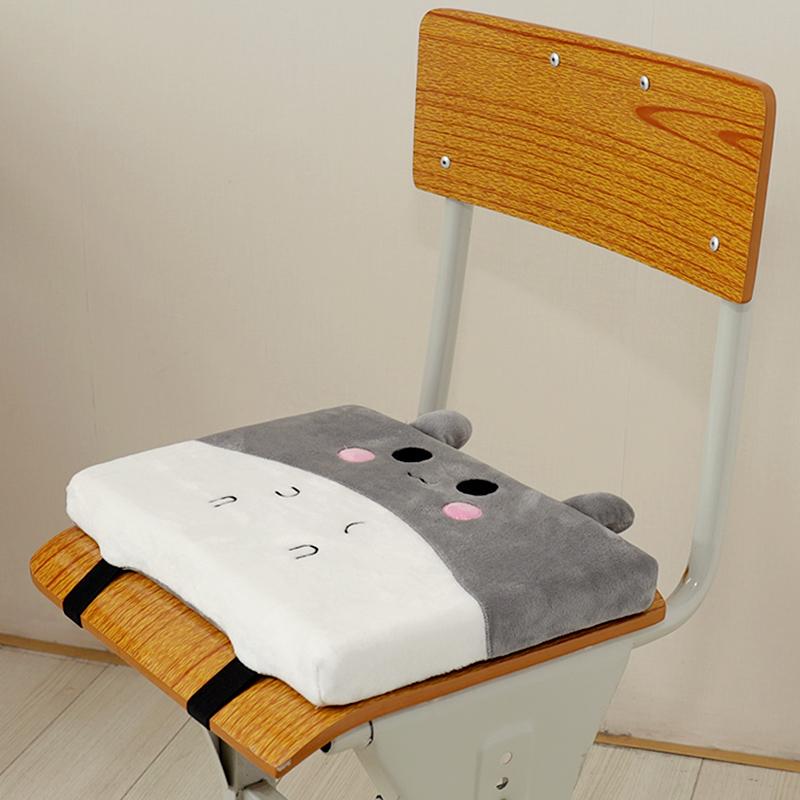 四季可爱长方形凳子学生教室坐垫透气椅子座垫加厚小垫子椅垫通用