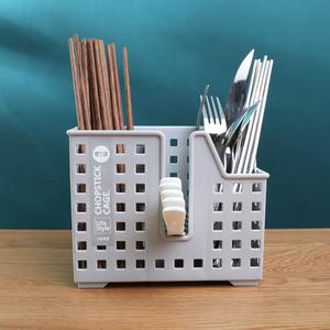 筷子筒筷笼子沥水创意家用厨房多功能放收纳盒的托快子勺子桶架篓
