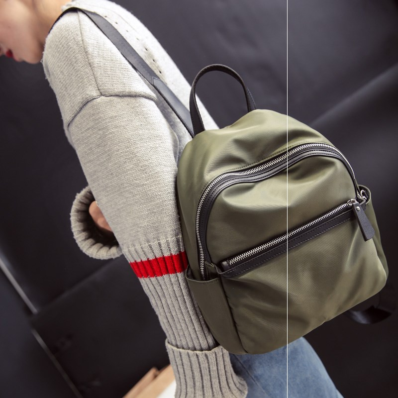 Small backpack mens small double shoulder bag single shoulder crossbite chest bag Mini leisure outdoor travel light canvas small