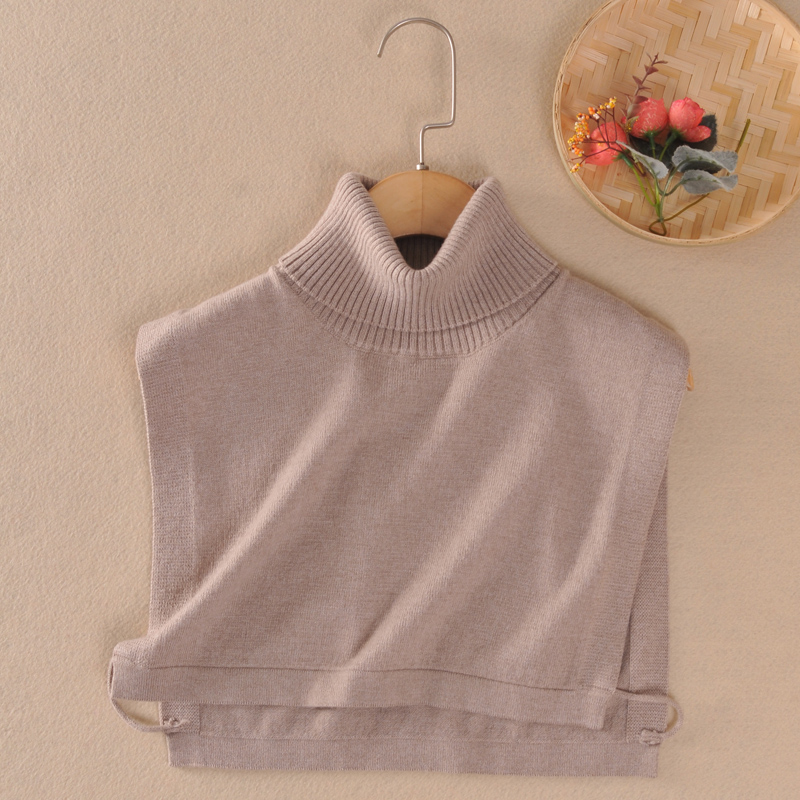 Autumn and winter knitted cashmere false collar for men and women