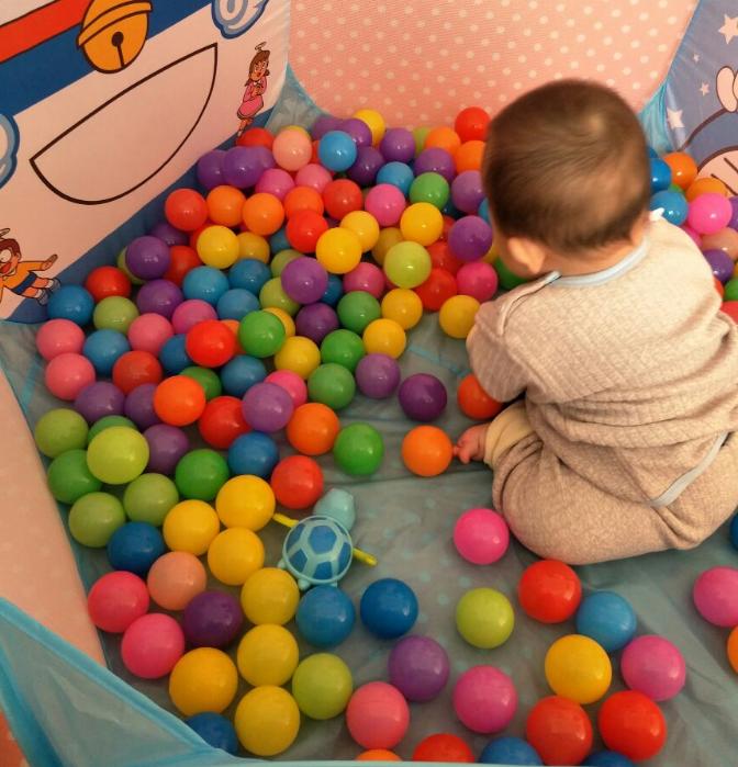 (用17.54元券)婴儿童海洋球小彩球玩具幼儿小孩子玩的球球加厚波波球游乐园宝宝