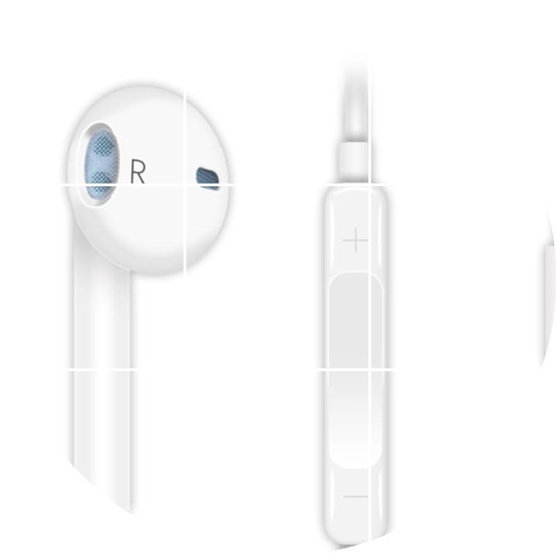 苹果安卓通用手机耳机线 三星小米线控耳式oppo/vivo耳塞接听电话