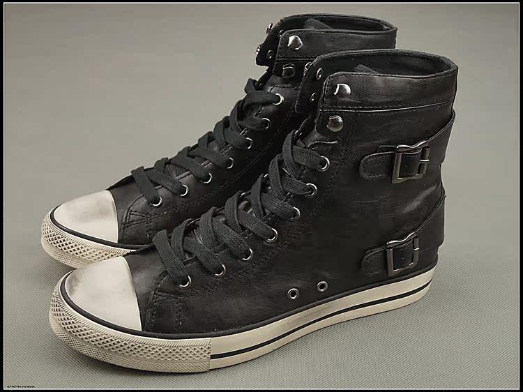Экономически эффективные внешней торговли оригинальные туфли на высоких западных черный кожаный звезды носить в Англии прилив Обувь мужская обувь