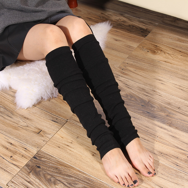 Hosiery female over the knee South Korea spring and autumn winter thickened warm cashmere sock cover Shin cover foot cover pile socks boot cover