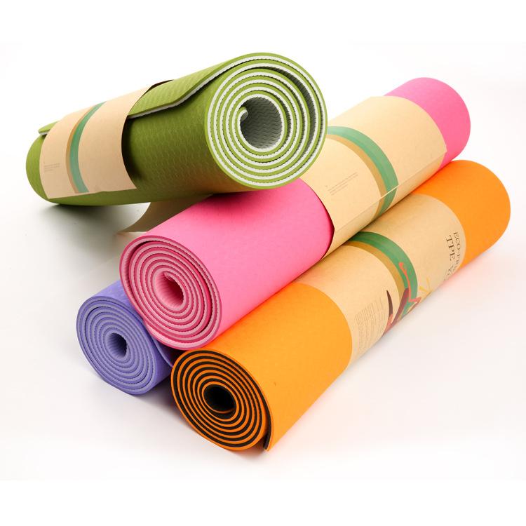 出口欧美183cm加长防滑双色瑜伽垫体操健身垫平板支撑垫愈加垫子
