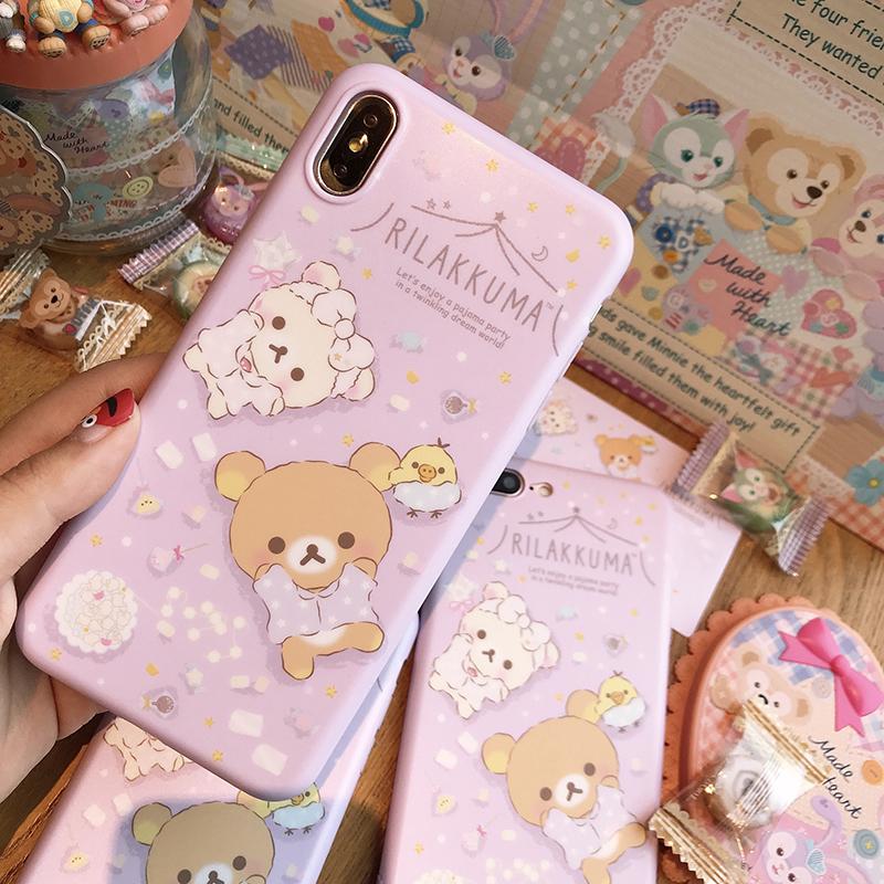 轻松熊iphonexsmax粉色苹果软壳券后28.00元