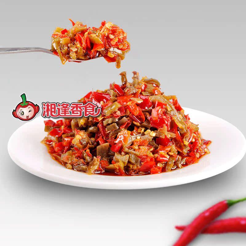 湖南瀏陽特產 道吾山 茶油刀豆剁辣椒 醃菜泡菜下飯菜458g酸脆辣