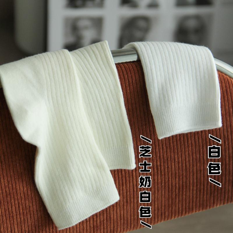 两耳光奶油色yyds!显腿直~黑色中筒袜纯色奶白袜子女外穿潮夏秋
