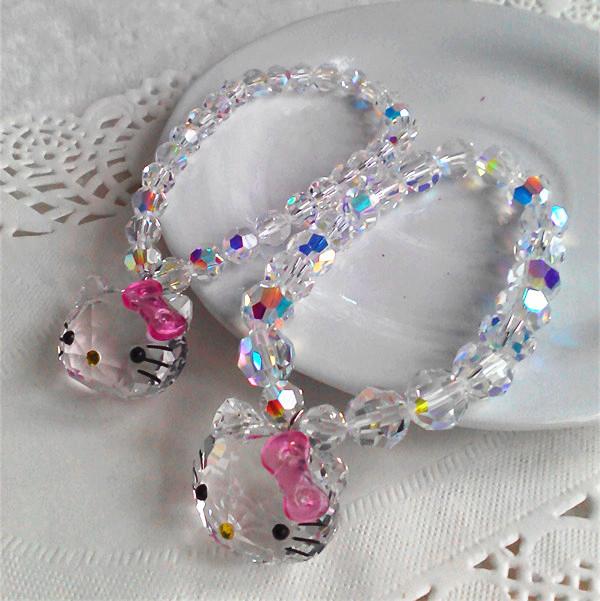 Austrian Crystal Bracelet schoolgirl sweet simple hello kitty kitty Bracelet childrens jewelry