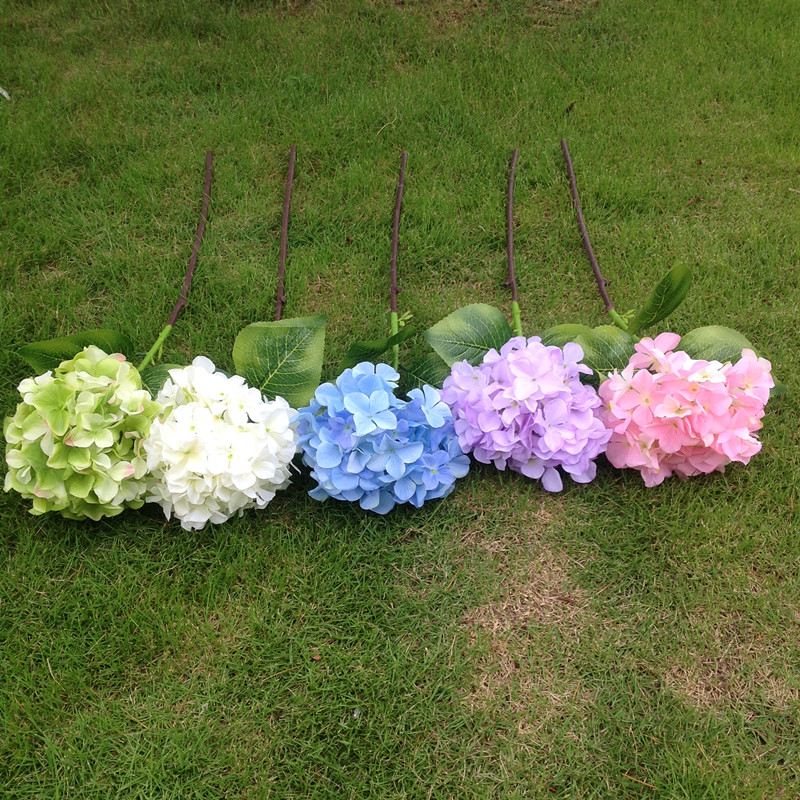 Ultra low cost simulation silk flower fake flower single branch ultra low cost simulation silk flower fake flower single branch large multi color hydrangea floor to ceiling pattern house hotel decoration flower mightylinksfo