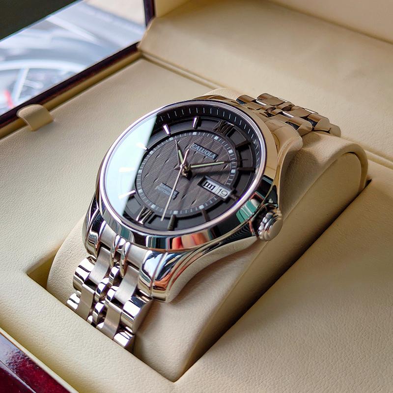 卡罗莱全自动机械表正品牌男士手表男表防水钢带休闲十大国产腕表