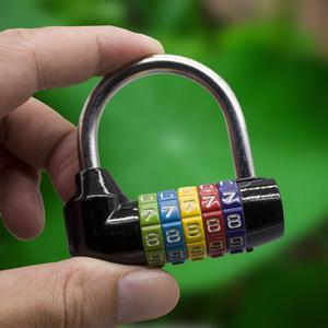 大号全金属5位数字密码锁挂锁门锁房门公寓宿舍仓库锁大门结实