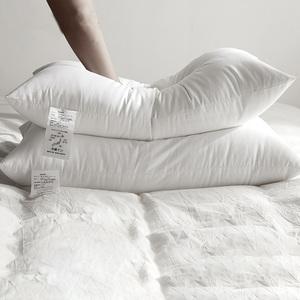 【一对装】五星级酒店枕芯羽丝绒枕芯白绒枕枕头单人护颈枕