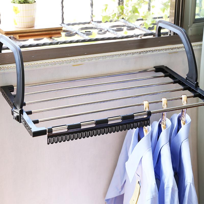 不锈钢管暖气片晾晒架阳台晒枕头窗台晒鞋架防盗窗宿舍小型晾衣架