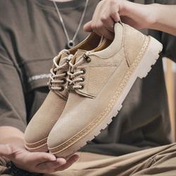 马丁鞋男秋季真皮英伦风低帮靴工装潮流男士鞋子百搭休闲大头皮鞋