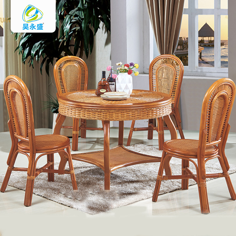 Hainan rattan furniture Chengmai old city rattan furniture leisure table dual use round table / Roundtable 80 / 90 / 1.0m