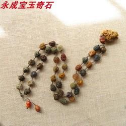 戈壁玛瑙原石毛衣链 内蒙古筋脉石项链 纹路清晰自然无优化无伤裂