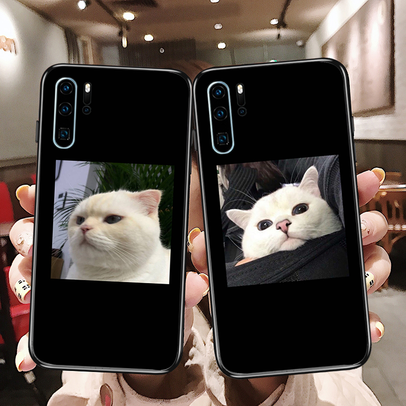 萌宠物可爱小猫咪情侣华为NOVA4E防摔硅胶手机壳MATE20X PRO磨砂软壳(非品牌)
