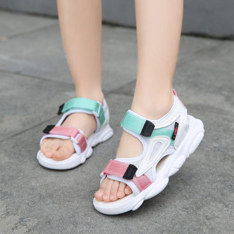 男童凉鞋2019夏季新款时尚女孩小公主韩版网红女童软底宝宝沙滩鞋