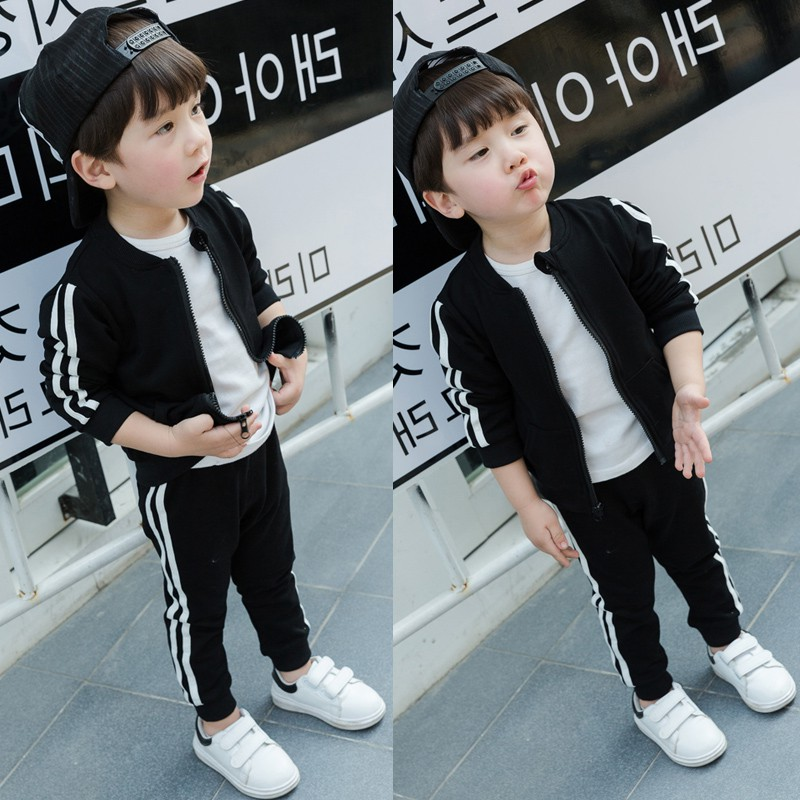 Boys Sports boys handsome suit Korean version 5 fashion spring and autumn childrens wear 1-2-3 years old 0 clothes 4