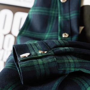 格子衬衫中长款长袖2021新款女外套