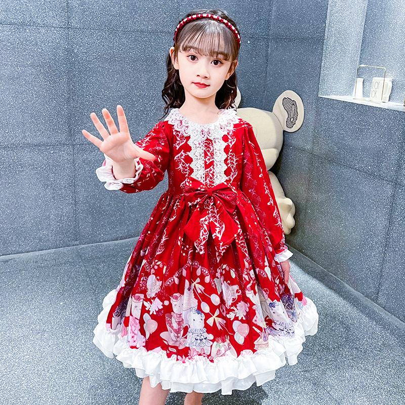 Ba la la girls dress Lolita bow net Princess Dress