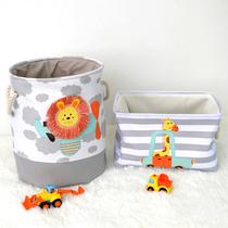 出口玩具收纳筐儿童收纳箱布艺宝宝衣服尿布收纳盒北欧卡通收纳桶