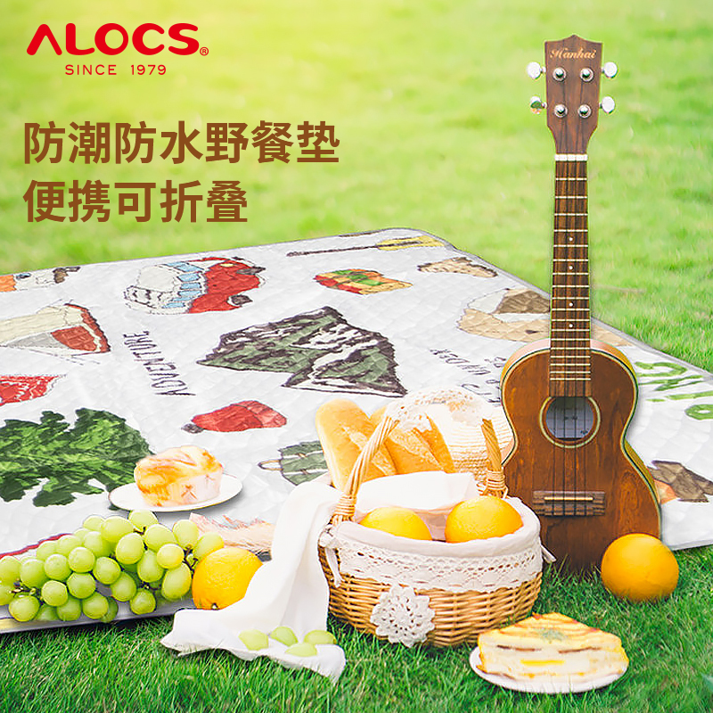 Alocs picnic mat outdoor portable folding picnic mat waterproof and moisture-proof camping thickened mat