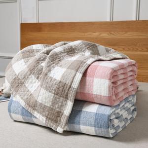 纱布毛巾被纯棉全棉毛巾毯夏季单人双人薄款夏凉被空调被午睡床单