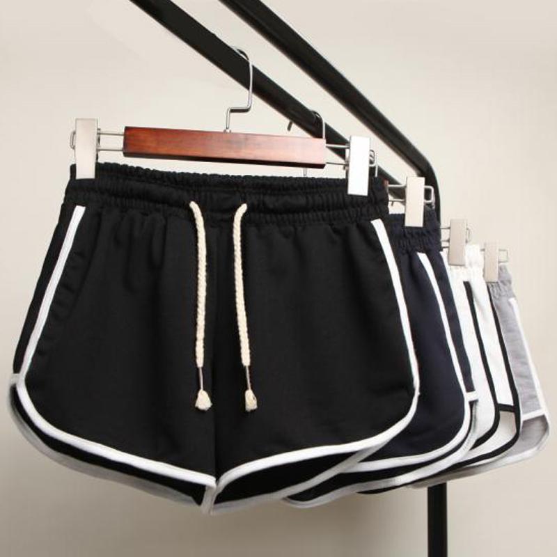 Sports shorts womens summer new womens wear large loose running high waist wide leg hot pants leisure home pajamas summer