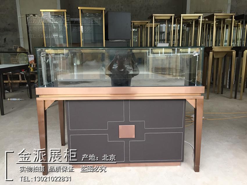 珠宝展示柜玉器首饰饰品玻璃柜钻石翡翠浏览柜文物收藏柜厂家订制
