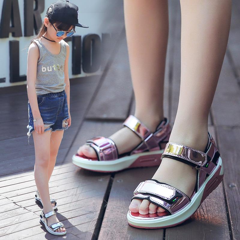 (用2元券)女童凉鞋2019新款韩版夏季儿童公主鞋时尚软底中大童小女孩沙滩鞋