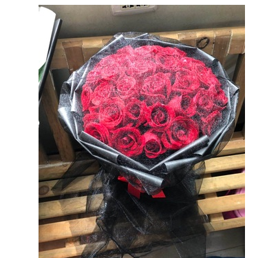 Carnation express rose bouquet in flower shop of Sancha Lake scenic spot in Hedong New District, Beimen old town, Jianyang City
