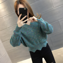 Spring and autumn net red short women's sweater 2020 new makaron knitting loose outside wear small and foreign style