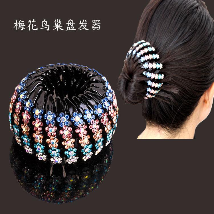 Birds nest hairdresser ball head simple headdress womens childrens grabbing clip horsetail clip dancing hairpin hairpin hairpin accessories