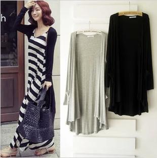夏装新款2016莫代尔女士韩版针织纯棉中长款空调开衫薄外套包邮