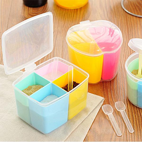 限9000张券塑料调料盒厨房调料罐调味盒 创意糖罐盐罐佐料盒调味瓶罐