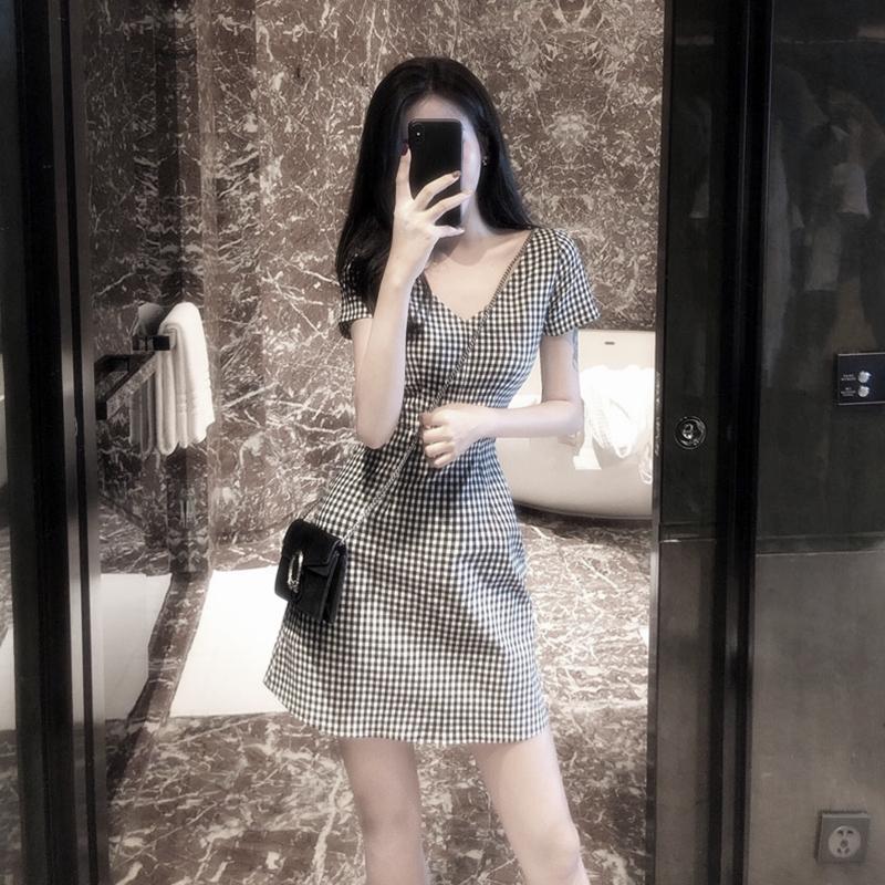 2021年新款小个子复古智熏法式超仙连衣裙森系桔梗仙气初恋裙女夏