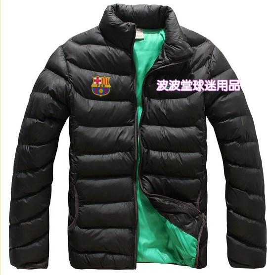 Фанаты Барселоны Барселона пальто воротник куртка хлопка кардиган спорта зимой Мужские пальто!