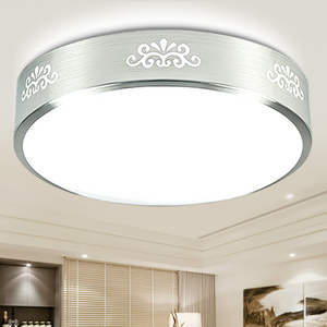 简约led圆形吸顶灯卧室灯小客厅灯阳台过道走廊厨房家装节能灯具