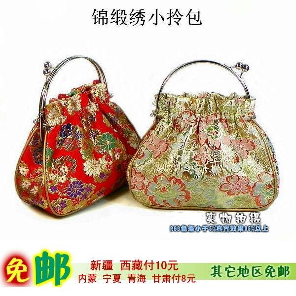 Antique embroidery bag mother bag small bag small bag womens bag satin bag fashionable hand bag handbag Dinner Bag