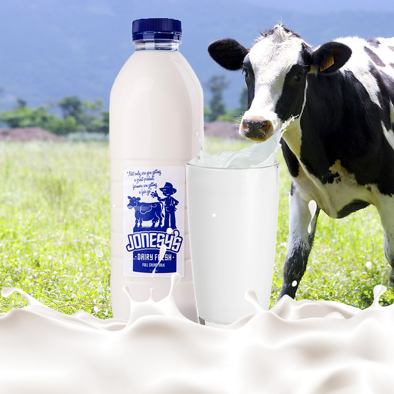 Delivery of jonesys pasteurized fresh milk on September 23