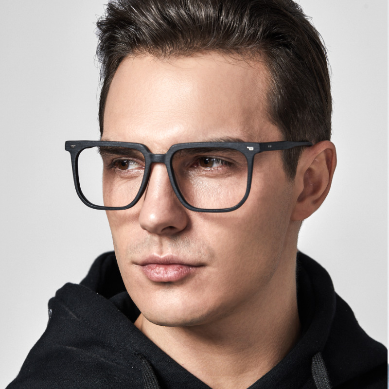 Glasses frame, wide face, glasses frame, wood grain, retro trendy peoples box, super tall frame, 90 pairs of short-sighted eyes frame, male and female
