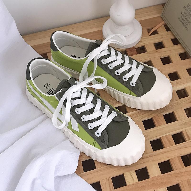 2019新款夏季潮鞋ulzzang帆布鞋(非品牌)