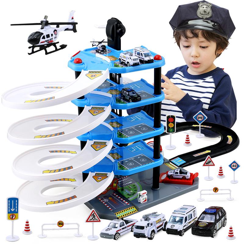 停車場軌道車賽車男孩合金汽車模型3~4~5歲兒童益智玩具生日