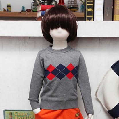 兒童純棉寶寶圓領套頭毛衣